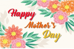 Happy Mother's Day greetings Poster template