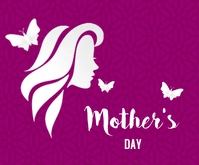 Happy Mother's day lovely purple Persegi Panjang Sedang template