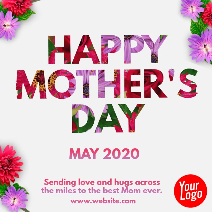 Happy Mother's Day May 2020 video post Instagram-opslag template