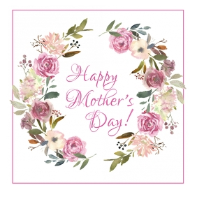 happy Mother's Day Mothers Gretting Card Wish