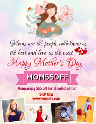 Happy mother's day online retail offer templa