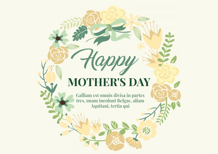 Happy mother's day postcard design template
