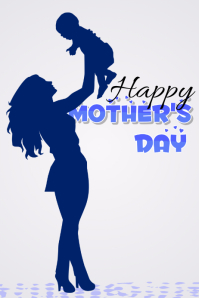 Happy Mother's Day Poster Design template