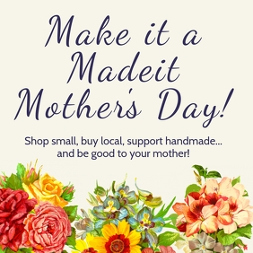 Happy Mother's Day Poster Template