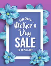 Happy Mother's Day Sale Flyer Template