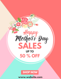 happy mother's day sales advertisement Flyer (US Letter) template