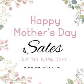 happy mother's day sales design template