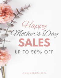 happy mother's day sales Flyer (US Letter) template