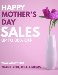 Happy mother's day sales flyer template desig Pamflet (Letter AS)
