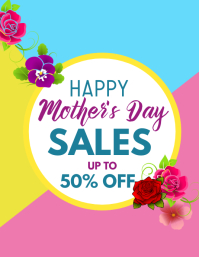 Happy mother's day sales flyer template