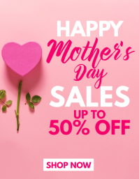 Happy mother's day sales flyer template 传单(美国信函)