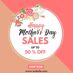 happy mother's day sales instagram post adver