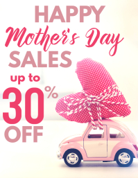 happy mother's day sales up to 30% off Flyer (US Letter) template