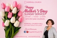 happy mother's day sunday service Poster template