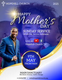 happy mother's day sunday service Flyer (US Letter) template