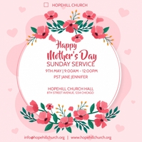 happy mother's day sunday service Instagram-Beitrag template