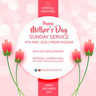 happy mother's day sunday service Instagram Post template