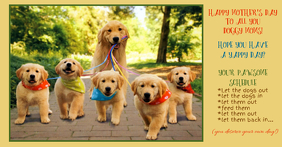 Happy Mother's Day to Dog Moms Facebook Shared Image template