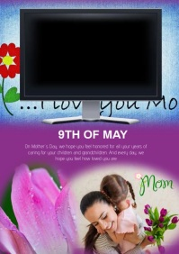 Happy Mother's Day video A4 template