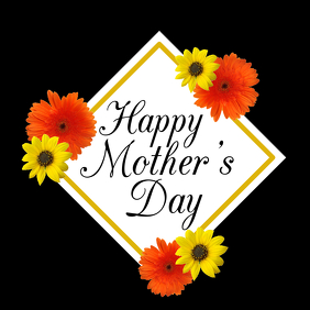 Happy Mother's Day Flowers Romantic Greeting Card