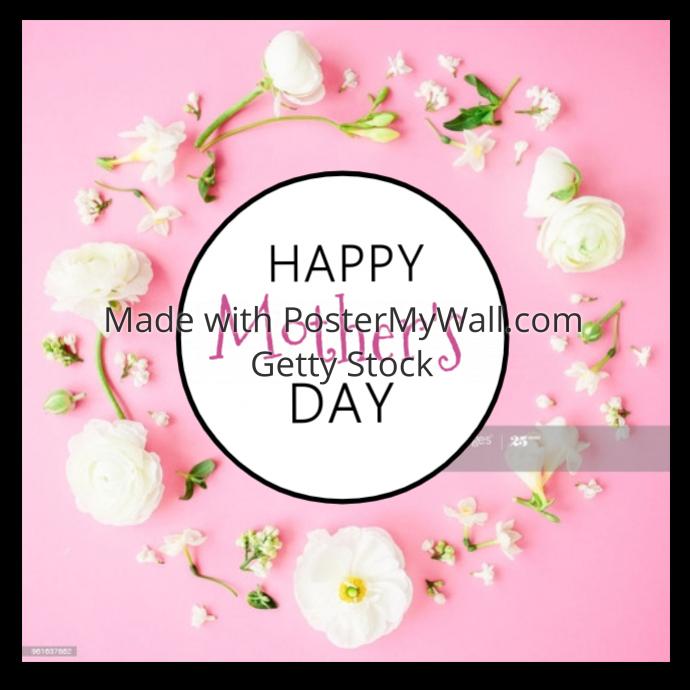 Selamat Hari Ibu Bunga Romantis Kartu Ucapan Iklan Persegi Templat Postermywall