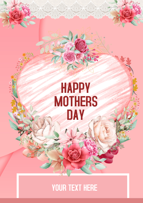 Happy Mother Day A4 template