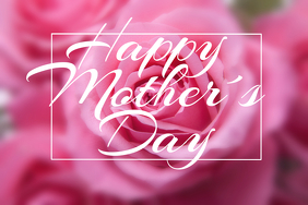 Happy Mother´s Day landscape pink flyer template