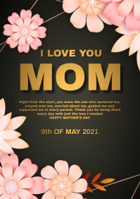 Happy Mothers day A4 template