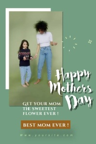 happy mothers day party editable video Pinterest-grafik template