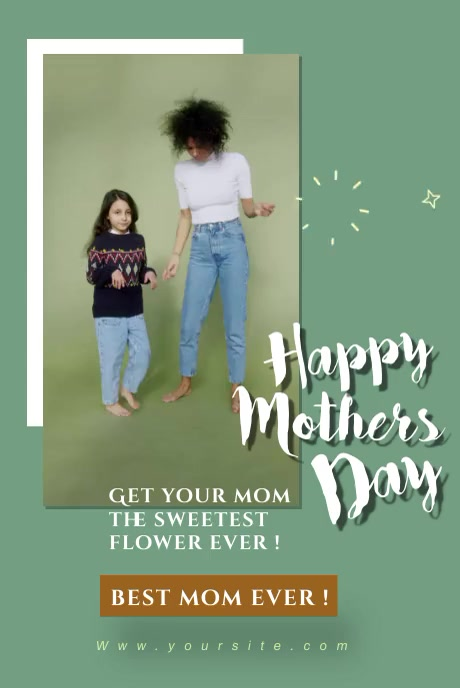 happy mothers day party editable video Pinterest na Graphic template