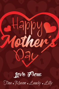 Happy Mothers Day Poster template