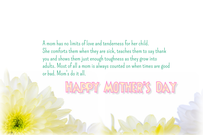 a mother s love happy mother s day message template postermywall