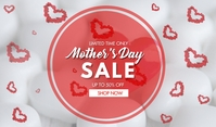 Happy Mothers Day Sale Etiqueta template