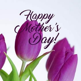 Happy Mpthers Day Card Flowers Womens Day