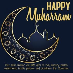 Happy muharram instagram poster design template