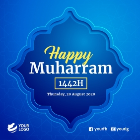 Happy Muharram Islamic Hijrah Message Instagram template