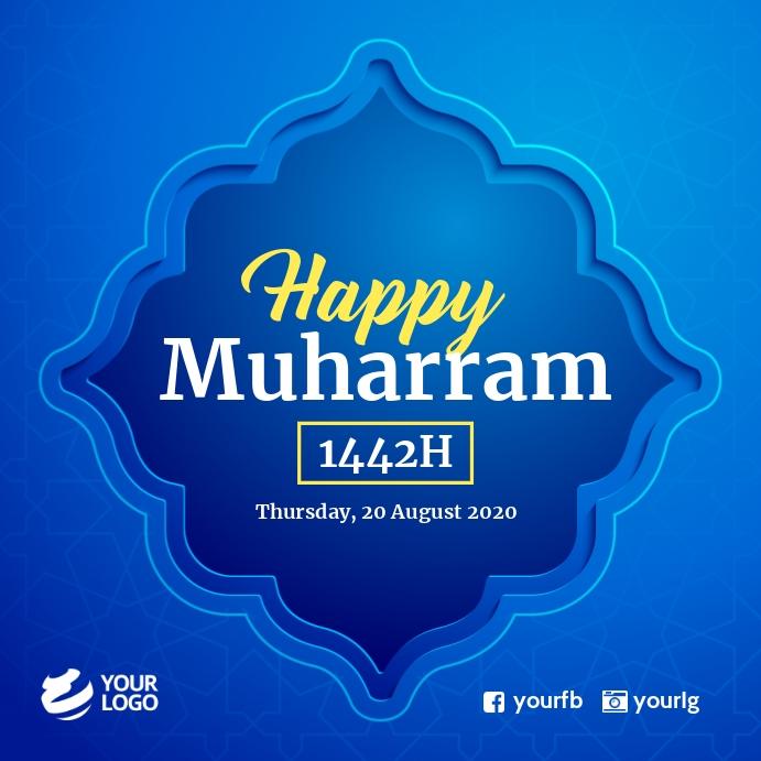 Happy Muharram Islamic Hijrah Iphosti le-Instagram template
