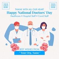 Happy National Doctor's Day 2021 Template Instagram Plasing