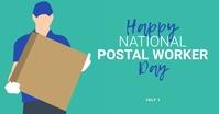 Happy National Postal Worker Day Card Imagem partilhada do Facebook template