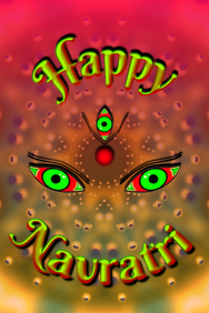 Happy Navratri Poster template