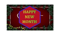 happy new month Tampilan Digital (16:9) template