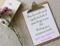 Happy new month Flyer (US Letter) template