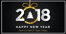 Happy New Year 2018 Facebook Post template