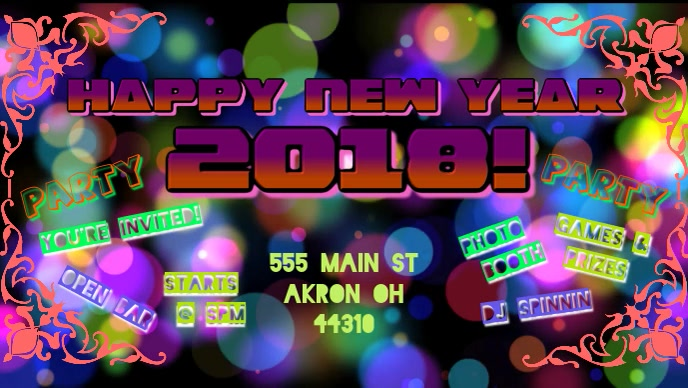 happy new year 2018 customize template