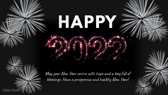 Happy new Year 2021 shine Gold Wishes Facebook-covervideo (16:9) template