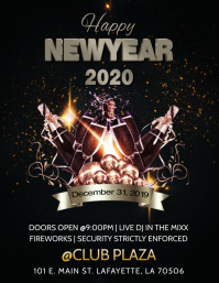 HAPPY NEW YEAR 2020 CLUB FLYER TEMPLATE