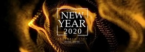 Happy New Year 2020 Fotografia de capa do Facebook template