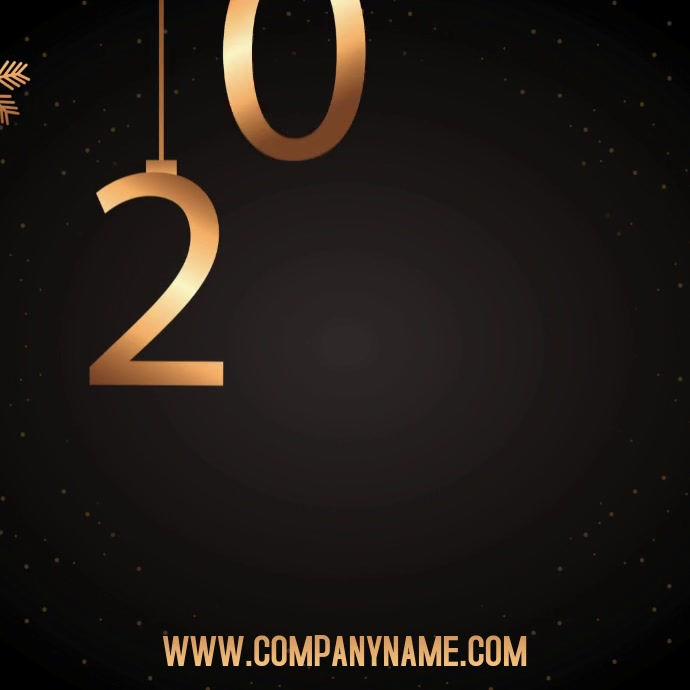 Happy New Year 2020 Digital Template