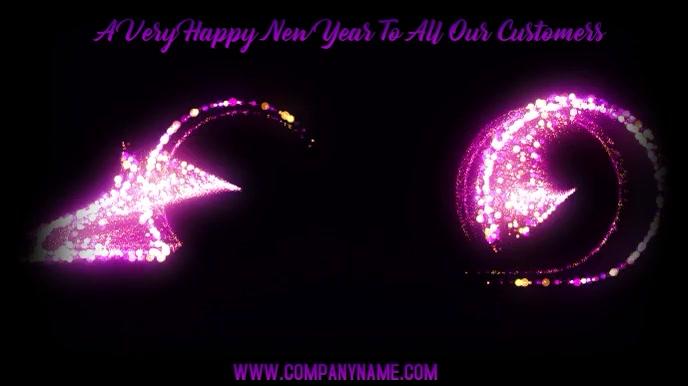 Happy New Year 2020 Digital Template