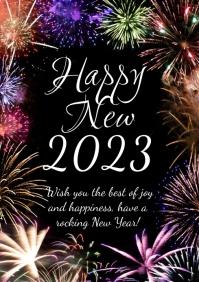 Happy New Year 2020 Firework Greeting Card Ad